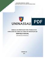 Manual de Orientacao Para Trabalho de Conclusao de Curso Do Curso de Graduacao Em Servico Social