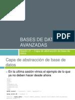 sesión 21 - capa abstracción base de datos