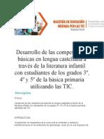 COMPETENCIAS BASICAS DE LENGUAJE Y TALLER