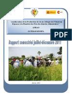 APRAO RapportDeProgres Senegal 2011 Juillet-Dec
