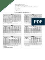 Calendario Académico 1 - 2011