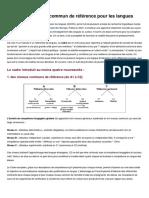 cadre EUR pour les langues