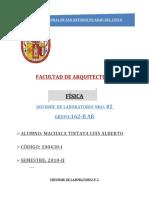 IMFORME DE LABORATORIO Nº2