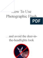 How to Use Photographic Flash