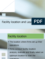 facility location and layout