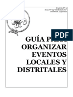 GUIA PARA ORGANIZAR EVENTOS DISTRITALES-VERSION 1