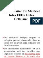 Accumulation De Matériel Intra Et -Ou Extra Cellulaire