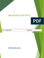 Excel 2013 - fórmulas e referências
