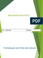 Excel 2013 - formatação