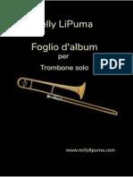 Foglio d'album per trombone solo; Nelly LiPuma