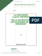 BOLTANSKI L. et THEVENOT L.