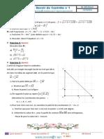 Devoir de Contrôle N°1 - Math - 2ème Sciences (2014-2015) Mr Afli Ahmed