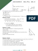 Devoir de Contrôle N°1 - Math - 2ème Sciences (2013-2014) Mr Aoiaiti Mohamed