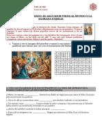 CATEQUESIS 3º  grado -NACIMIENTO DEL SALVADOR - SAGRADA FAMILIA