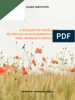 E-book A atuação do psicólogo no Serviço de Acolhimento Institucional