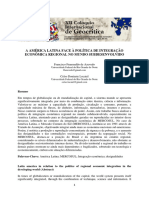 A Amrica Latina Face a Poltica de Integrao Econmica Regional No Mundo Subde