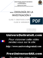 Objetivos  e Hipótesis de la Investigación-2015