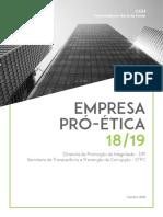 Relatório do Pró Ética 2018-2019