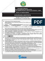1- PROVA. SELECON 2020 Prefeitura de Boa Vista - Cirurgiao Dentista