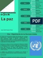 Organizaciones en pro de paz