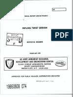 ARCCB TR 95011 Rifling Twist Design