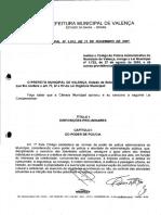 Lei 1.912.2007 Codigo de Policia Administrativa