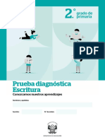 2° PRIMARIA-prueba diagnóstica de escritura