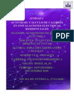 CALCULO DE CALIBRES EN INSTALACIONES ELECTRICAS RESIDENCIALES