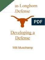 Developing a Defense - Muschamp