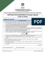 Prova - C. Esp. - Agronomia (P. Vegetal)