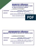 CARATULA Memoria Descriptiva Perimétrico - ASOC. AGRÍCOLA SOL ORIENTE -Certificado Libre - 21-082