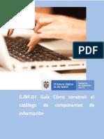 G.INF.07 Guía Como construir el catalogo de componentes de Información v1.1
