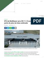 IPO da Multilaser sai a R$ 11,10 por ação, perto do piso da faixa estimada