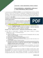 CONVOCAÇÃO N° 010 - NÍVEL FUNDAMENTAL MÉDIO E TÉCNICO