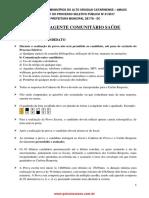 AGENTE COMUNITÁRIO SAÚDE