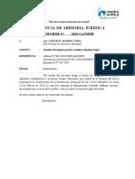 INFORM - SOLICITO DOCUMENTO PREVIO A EMITIRSE OPINIÓN LEGAL