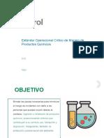 Estándar Operacional Crítico de Manejo de Productos Químicos