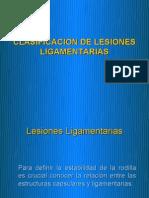 Clasificacion de Lesiones Ligamentarias