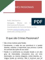 CRIMES PASSIONAIS