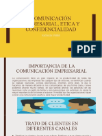 COMUNICACIÓN EMPRESARIAL, ETICA Y CONFIDENCIALIDAD