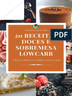 20 Receitas de Doces e Sobremes - Paula Carneiro