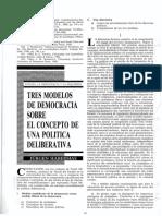 HABERMAS Jurgen - Tres Modelos de Democracia Sobre El Concepto de Una Politica Deliberativa