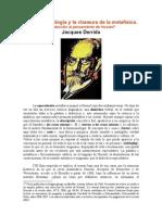 Derrida - La fenomenología y la clausura de la metafísica