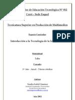 PROGRAMA - TECNICATURA SUPERIOR EN PRODUCCIÓN DE MULTIMEDIOS