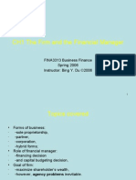 CH1 The Firm and the Financial Manager(ppt)