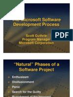 The Microsoft Software Development Process