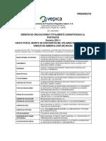 PROSPECTO Obligaciones Totalmente Garantizadas al Portador VEPICA
