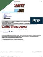 El último Sánchez Vázquez