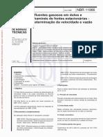Efluentes gasosos em dutos e chaminés de fontes estacionárias - Determinação da velocidade e da vazão - Método de ensaio