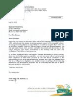 Bureau of Soils and Water Management Response on National Soil Sampling